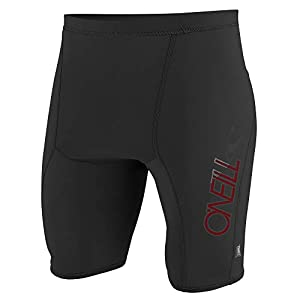O'Neill Men's Premium Skins UPF 50+ Shorts, Black, Small