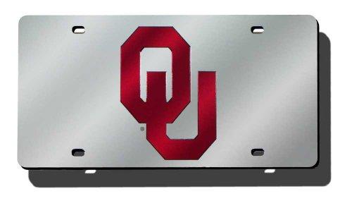 Oklahoma Sooners Auto (NCAA Oklahoma Sooners Laser Cut Auto Tag, Silver)
