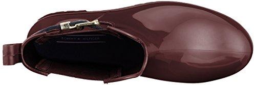 Rain et Tommy 296 Rouge Pluie Chocolate de Bottines Hilfiger Boot Bottes Femme Decadent Belt Corporate CnwZHwUq