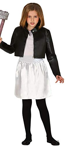Girls Evil Scary Killer Doll 1990s 90s Halloween Film Creepy Horror Fancy Dress Costume Outfit 5-12 Years (7-9 Years)