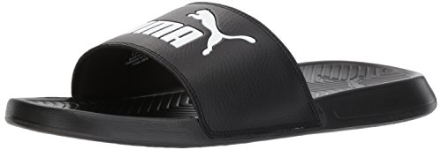 PUMA Men's Popcat Slide Sandal, Black/White, 14 M US (Minion Men Slippers)