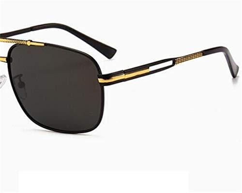 conducen de FlowerKui las metálico de del Gafas sol polarizadas gafas unisex marco Golden sol que gafas de fqFq5z