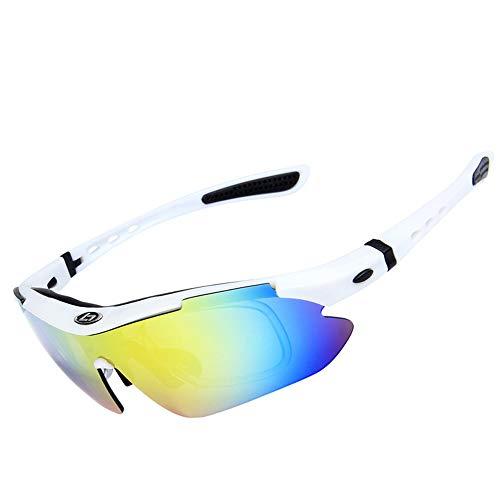 polarizadas para Sol Exteriores de SP0868 protección Glasses para Sun Gafas 5 White Color UV400 Clarity de Lentes Black WEATLY Hombres Pvwt8Ex