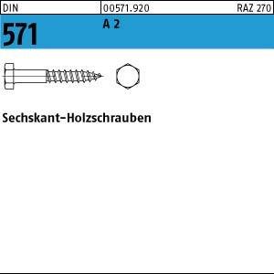 Edelstahl A2  10x 70 100 Stück Sechskant-Holzschrauben DIN 571