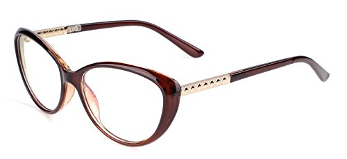 a64a1ad307 Agstum Womens Cat eye Glasses Frame Optical Eyeglasses Clear lens (Brown