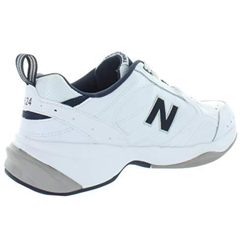 New Balance Men's 624 V2 Casual Comfort Cross Trainer, White/Navy, 20 M US