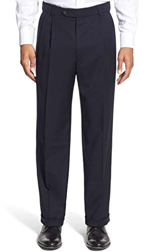 Winthrop & Church Men's Pleated Front Poly Rayon - Pants Front Career