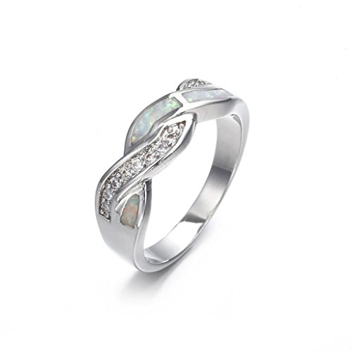 SMALLE◕‿◕ Clearance,Women Fashion Fashion Diamond Cylindrical Rings Fine Ring Size 6/7/8/9/10 ()