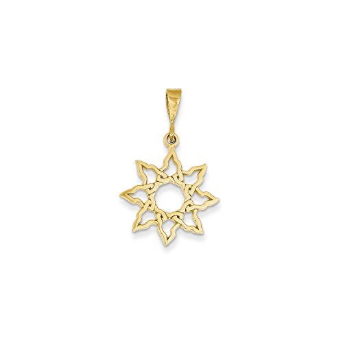 Roy Rose Jewelry 14K Yellow Gold Sun Charm 14k Yellow Gold Sun Charm