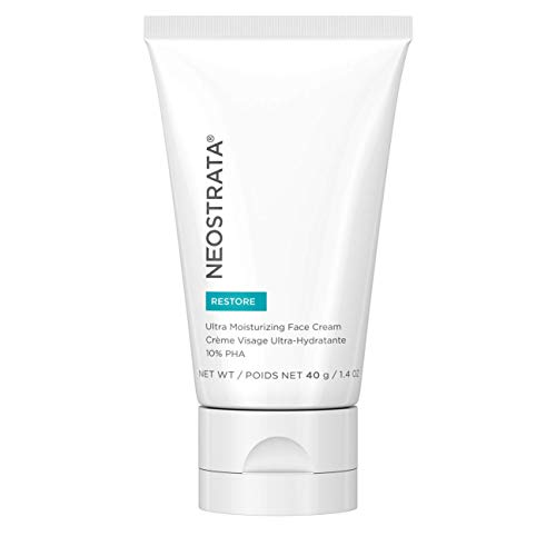 NEOSTRATA RESTORE Ultra Moisturizing Face & Neck Cream - Vitamin E, Glycerin, 10% Polyhydroxy Acid (PHA), Primrose Oil - Anti Aging Face Cream; Dark Spot Remover for Face; Anti Wrinkle Face Toner for Sensitive & Dry Skin; Skin Firming; 1.4 oz 40g Anti Wrinkle Cream