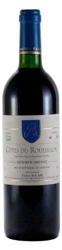 Côtes du Roussillon Réserve Grenat 1995 - Jahrgangswein, Rotwein, Frankreich, Languedoc Roussilion, Grenache, Syrah, Mourvèdre, Trocken