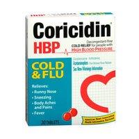 Coricidin Hbp Cold/Flu 20 Size 20ct Coricidin Hbp Cold/Flu 2