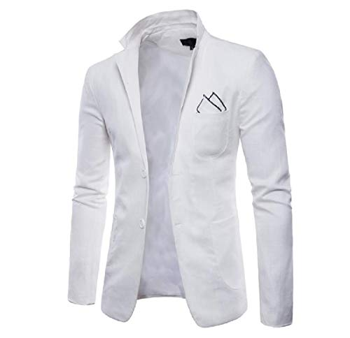 Blazer Mens Coat Winter Fall Casual White Button Jacket 2 AngelSpace Premium qd60xq