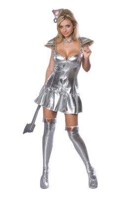 Tin Man Costume Women (Tin Woman Adult Costume - X-Small)