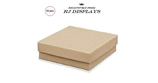 Amazon.com: café Kraft cuadrado cartón joyería cajas de ...