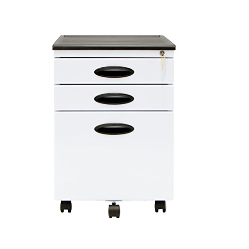 Studio Designs 51103 Calico File Cabinet, White (Black And White Art Design)