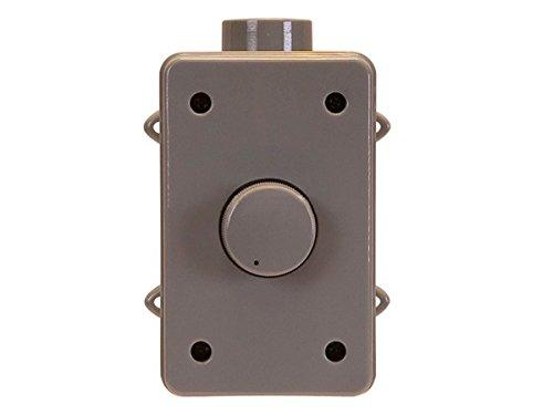 100W Outdoor Speaker Volume Controller, Gray (Speaker Controller)