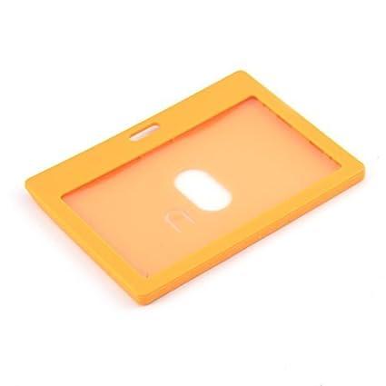Escuela eDealMax Trabajo horizontales Nombre tarjeta de identificación Oficina Titular 9cmx5.4cm Naranja