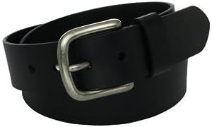 Levi's Men's 100% Leather Belt with Prong Buckle, Black, 38