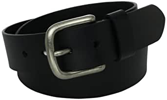 Levi's Men's Leather Bridle Cut Belt, Black, 32