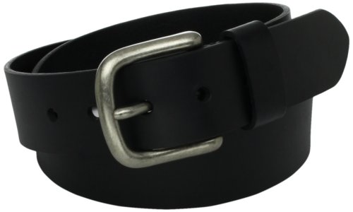 (Levi's Men's 100% Leather Belt  with Prong Buckle, Black, 32)