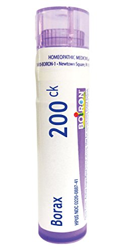 Boiron Borax 200CK, Homeopathic Medicine for Canker Sores, 1 Count
