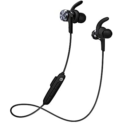 1MORE iBFree In-Ear Earphones Wireless Headphones with Bluetooth 4 2 AAC  IPX Waterproof  Secure Fit  In-Line Mic for Sports Gym Running New Model Black