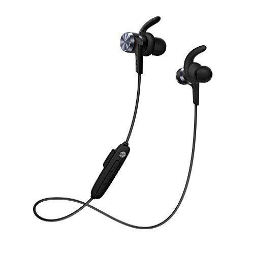 1MORE iBFree In-Ear Earphones Wireless Headphones with Bluetooth 4.2 AAC, IPX 6 Waterproof, Secure Fit, In-Line Mic for Sports Gym Running - New Model Black