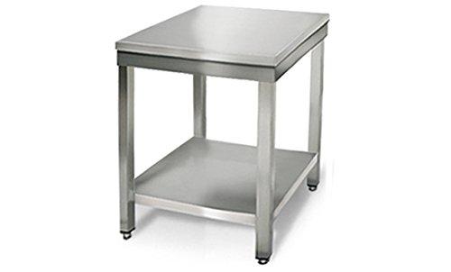 GOO Gastro GO7071G Gewerbe Arbeitstisch 0, 6m - mit Grundboden Edelstahl Tisch Edelstahltisch Kü chentisch Arbeitstisch Anrichte