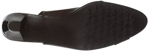Soft Style by Hush Puppies Women's Dagmar Pump Dark Brown Kid/Patent free shipping reliable cheap sale buy cAIxUmdc