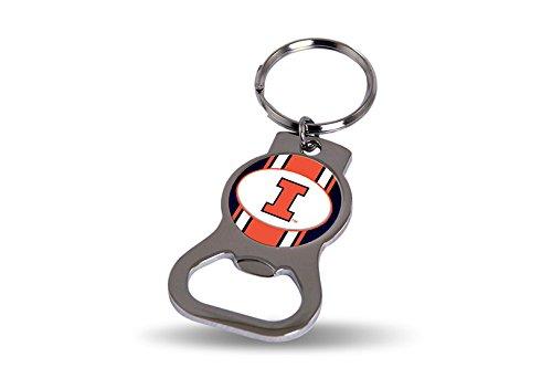 Rico Industries NCAA Illinois Illini Metal Bottle Opener Keychain