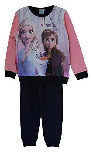 Disney Frozen Elsa and Anna pluche katoenen pyjama-overhemdset, pyjama met omgeslagen mouwen, lange mouwen, loungewear…