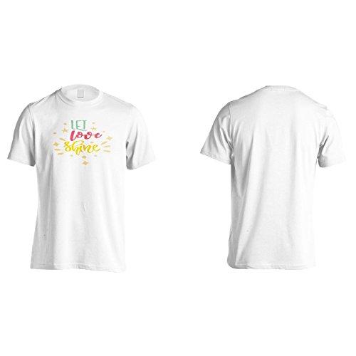 Lass Die Liebe Leuchten Herren T-Shirt n138m