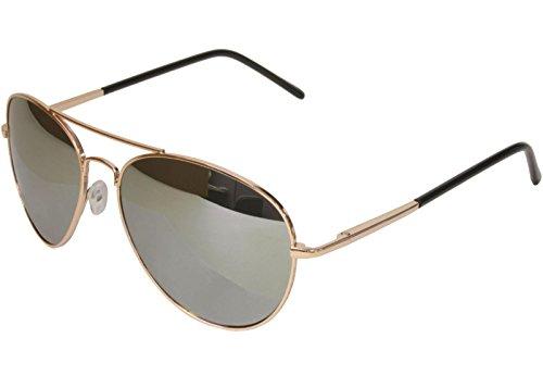 Spring Hinge Gold Frame - G&G Premium Mirror Aviator Sunglasses Spring Hinge Gold Frame