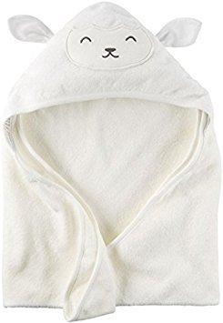 Carter's Hooded Bath Towel - Ivory Lamb Carters Terry Hooded Towel