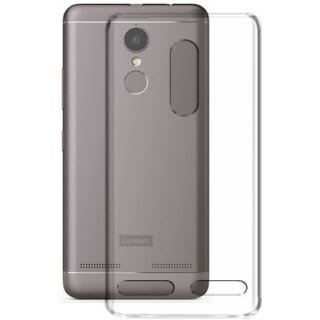 Go Hooked Transparent Silicone Flexible Soft TPU Slim Back Cover For Lenovo K6 Power