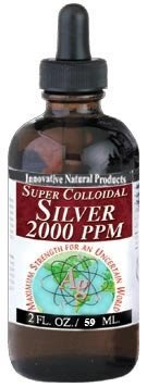 Colloidal Silver Super 2,000 ppm Innovative Natural Products 2 Ounces
