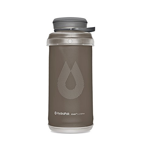 Hydrapak Stash 1L Flexible Water Bottle, Mammoth Grey