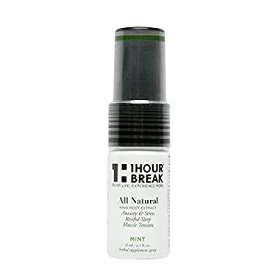 1Hour Break® Natural Anti-Anxiety Remedy and Instant Stress Relief, Kava Oral Spray, version 2.0