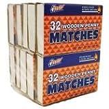 Wooden Kitchen Matches, Strike On Box, 32 Matches Per Box (10 Count)