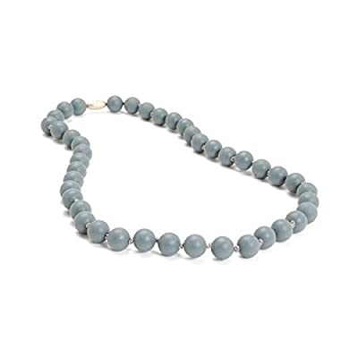 Chewbeads - Teething Necklace Stormy Grey : Baby Teether Toys : Baby