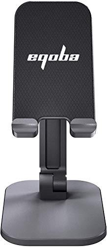 Eqoba Suporte de Telefone Celular, Portátil, Rotativo e Dobrável, Compatível Com o Tablet PC,Preto
