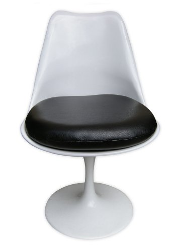 Premium Replacement Cushion for Saarinen Tulip Side Chair - Black Vinyl