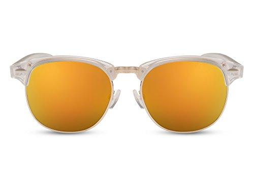 Mujer Clubmaster de Ca Hombre Cheapass 016 Transparente Variación Retro Espejados Gafas Sol qZTpp7xgw