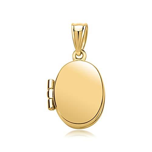 Unique Medaillon oval 333er Gold GP0197