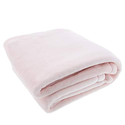 Fleece Stroller - Soft Plush Fleece Toddler Baby Blanket   Boy Or Girl   Swaddle Stroller Crib   Shower Gift   (Tender Pink)