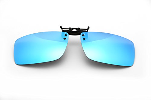 Clip-on Sunglasses,Sports Style Polarized Flip up Clip Sunglasses Lens Driving Glasses Lens - Holder On Sunglasses Clip