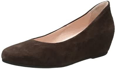 French Sole FS/NY Women's Justify Suede Wedge Pump,Brown,6 M US