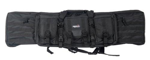 Lancer Tactical 46'' MOLLE Padded Rifle Bag Exterior Pockets Travel Handling Safe Keeping Adjustable Straps Quick Detach Buckles - BLACK by Lancer Tactical (Image #3)