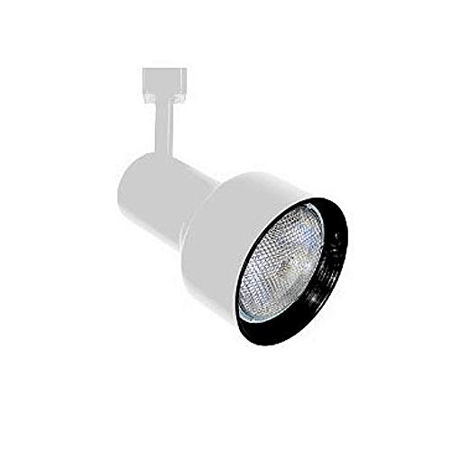 PAR30 WHITE step cylinder Black baffle track light fixture head